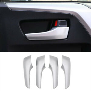 Details about 2016- 2018 For Toyota RAV4 ABS Matte Interior Chrome Door  handle Cover Trim 4PCS