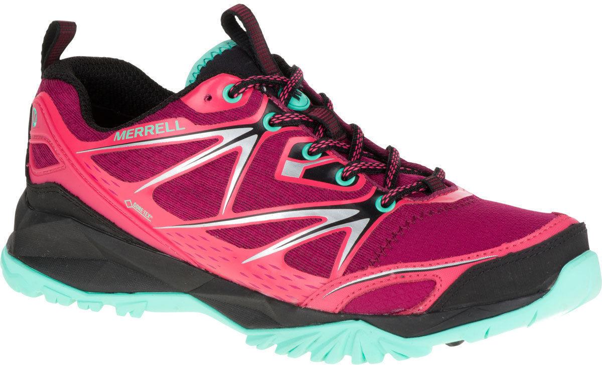 Zapatos promocionales para hombres y mujeres mujer Merrell cuero con cordones GORE-TEX Zapatillas Para Andar Capra Bolt