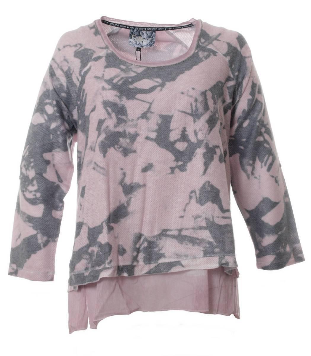 No Secret OverGröße Damen Pullover mit Untershirt in in in Tunikalänge Rosa | Shopping Online  e3349c
