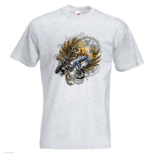 High Fashion BMX Mens PRINTED TSHIRT TEE SHIRT T-SHIRT Bike Bicycle Cog Wings