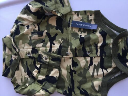 Girl Boy Kid Baby Army Military Party Camouflage Green Camo Romper Bodysuit