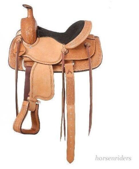 12 in (approx. 30.48 cm) silla de montar Western Roper Juventud-Dalton-Aceite ligero de cuero