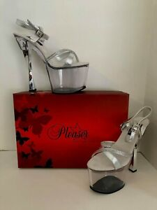 Pleaser-Prism-715-S-RS-Stiletto-Heel-Platform-Slide-Size-10-Exotic-Dancer-SEXY
