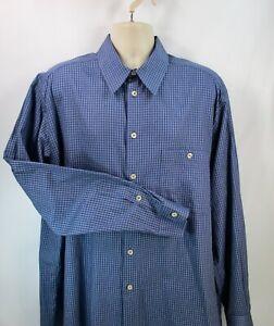 Ermenegildo-Zegna-Men-039-s-Shirt-2XL-Pre-owned-Long-Sleeve-100-Cotton-Blue