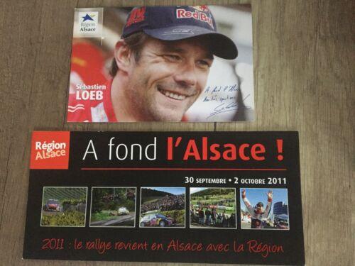 2 Cartes Postales Publicitaires SÉBASTIEN LOEB WRC