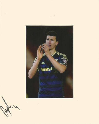10 x 8 inch mount personally signed by Daniel Ayala of Middlesbrough on 10.02.15