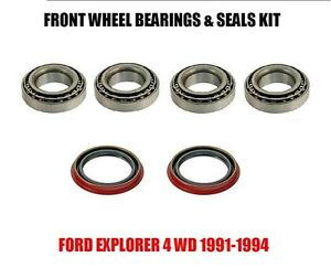 ford explorer front wheel bearings seals kit   ebay