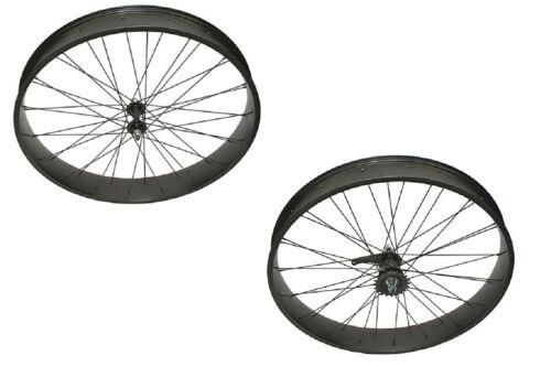 """Black Bicycle Fat WheelSet 26/"""" x  80mm Coaster Brake Cruiser Bikes"""