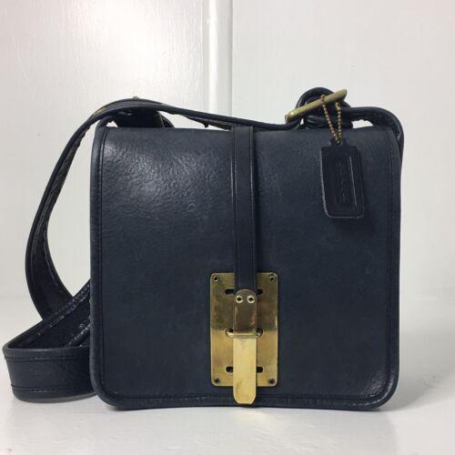 Vintage Coach Navy Blue Courier Hasp Lock 60s Pre… - image 1