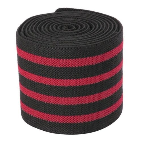 New Men/'s Gym Sports Elastic Knee Wraps Weight Lifting Bandage Straps Guard Pads