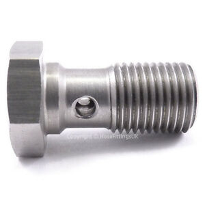 M10x1-0-10mm-METRIC-STAINLESS-STEEL-BANJO-BOLT-20mm-Long-Brake-Hose-Fitting-Eye