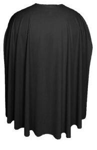 Black-35-034-Cape-great-for-Halloween-Horror-Bat-cape-Vampire-Superhero-cloak-Plain