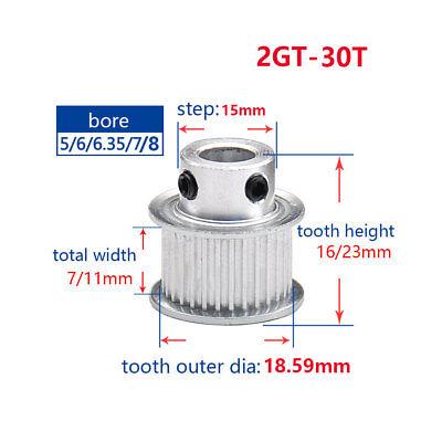 2GT 48T Idler Timing Belt Pulley 5-10mm Bore 6//10mm Belt For 3D Printer Reprap