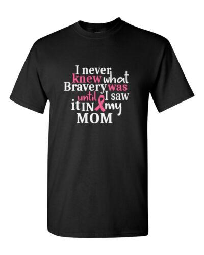 MOM I Never Knew Shirt Pink Ribbon Breast Cancer Awareness Tee Survivor T-Shirt