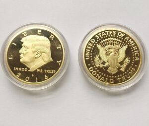 2x President Donald Trump Inaugural Silver Gold Eagle Commemorative Novelty Coin