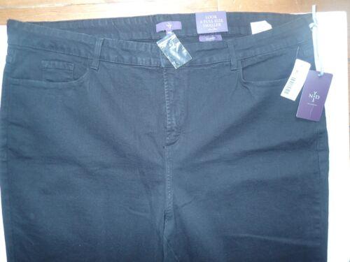 La 32 33 Skinny Vos L Jeans Taille Nydj Bnwt Tuck Filles Pas Tummy Plus 30 Black qOpPxw8