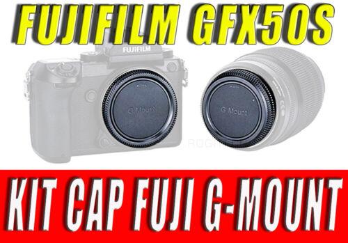KIT CAP REAR LENS BODY CAMERA COVER ADATTO PER FUJIFILM GFX50S GFX 50 S GFX 50S