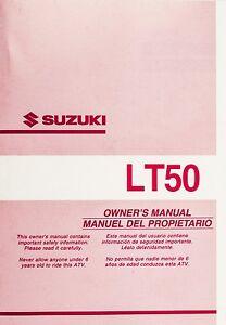 genuine suzuki lt50 model k2 atv rear fender owners manual 99011 rh ebay ie 1983 Suzuki LT50 suzuki lt50 user manual