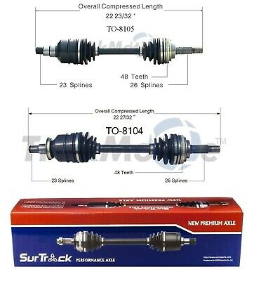 FRONT LEFT /& RIGHT CV Axle Shaft For TOYOTA COROLLA 1988-1992 LE FWD