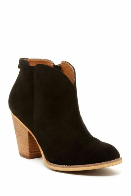 2d089589b SUSINA/NORDSTROM New STEVIE Women's 11 Suede Ankle Boot Leather Bootie  BLACK NIB