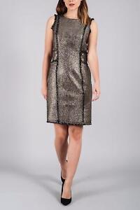 Taglia Darling Lf182 Dulcie Uk 14 11 Jj Metallic Silver Dress q6AwHp6I