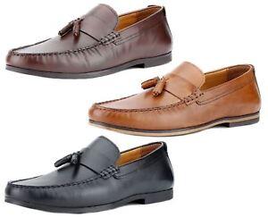 red tape woodcroft tassel loafers black tan leather men's