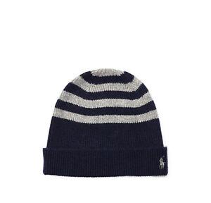 d0ac82e0fee POLO RALPH LAUREN Men s Rib Knit Wool-Cashmere Watch Cap Hat Beanie ...