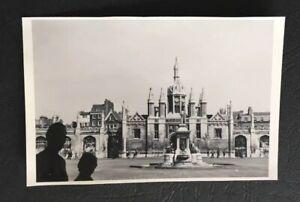 Details about Vintage Photograph Kings College Cambridge Courtyard 1964  University PA25