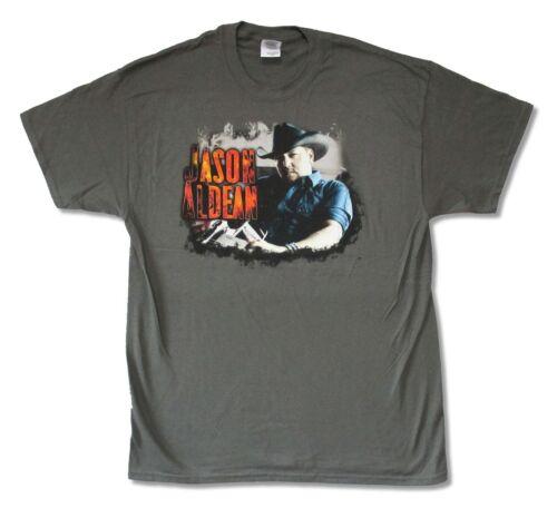 Jason Aldean Brûlez-Le Tour 2014 Kids Youth Gris T Shirt Large Neuf Officiel