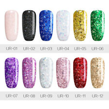 7 5ml Ur Sugar Glitter Uv Gel Nail Polish Rose Gold Holographic Soak Off Varnish