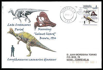 Praktisch Spain Dinosaur Dinosaure Dinosaurier - Custom Stamp - Only 5 Cover Made!! Cg37 Um Sowohl Die QualitäT Der ZäHigkeit Als Auch Der HäRte Zu Haben