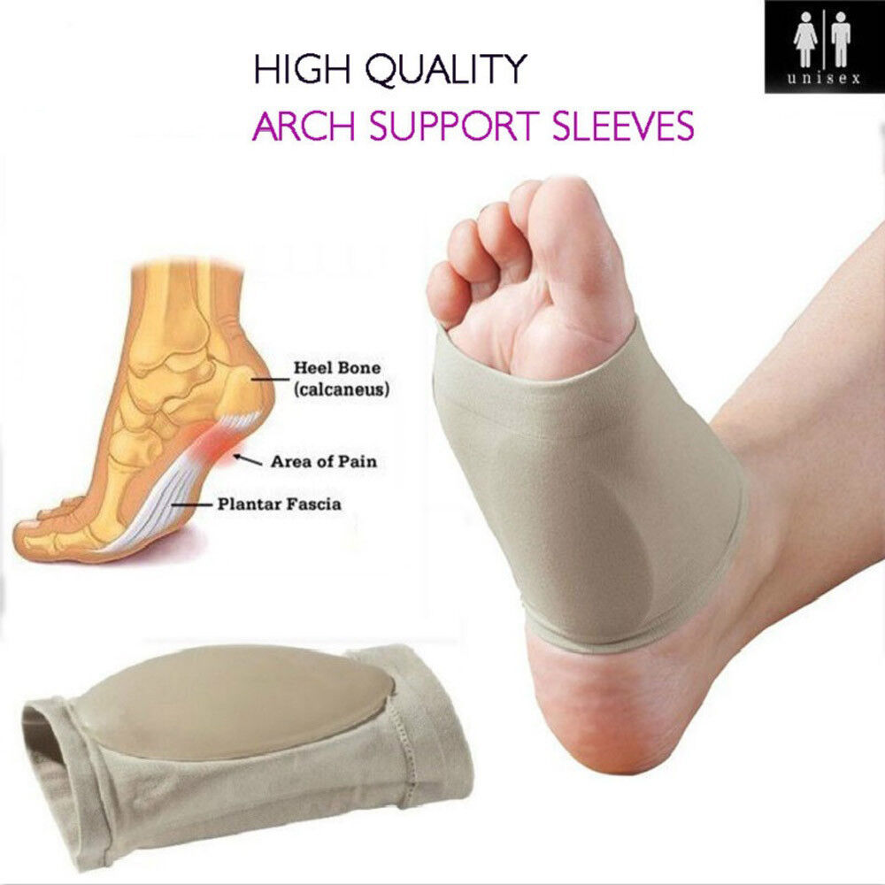 9f4850a7765dc Details about US Heel Foot Pain Relief Plantar Fasciitis Insole Pads Arch  Support Shoes Insert