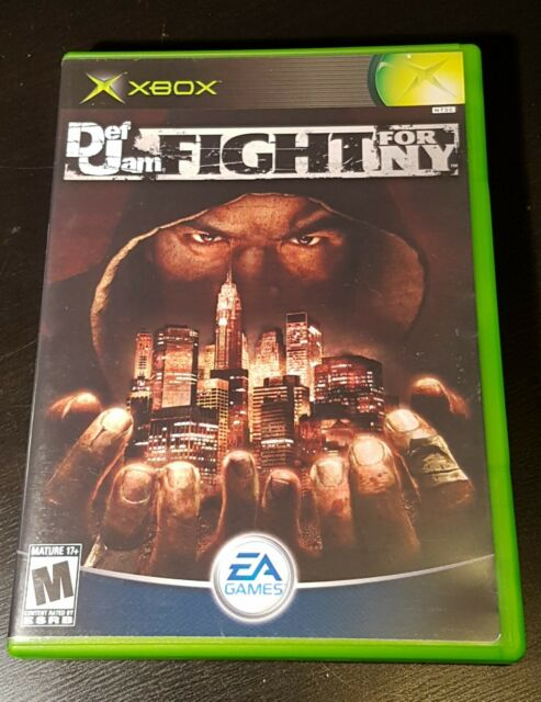 Def Jam Fight for NY Xbox Original COMPLETE Tested Works Amazing Shape Black...