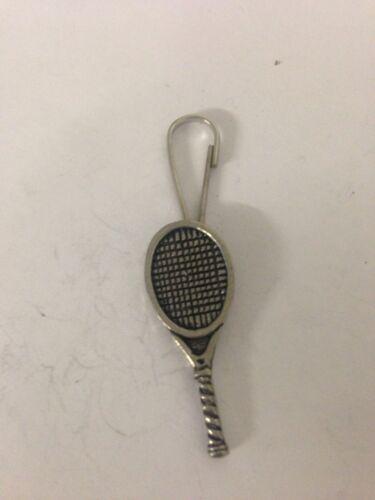 Tennis Racket PP-E English Pewter Emblem on a Zip Puller