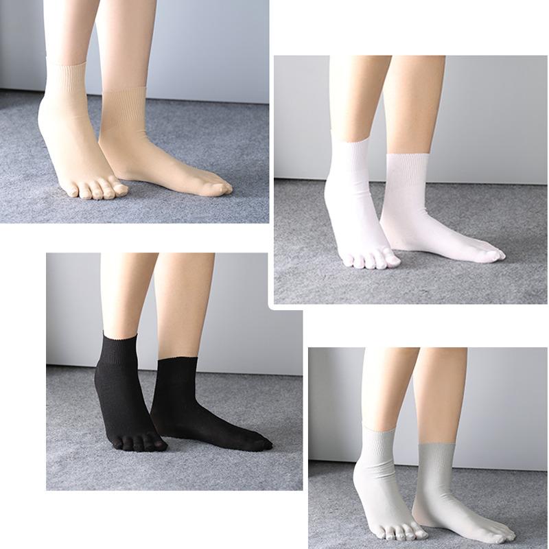 3 Paar Damen, Herren Zehen Socken Fünf Finger Kuschelig Dünn Weich Atmungsaktiv