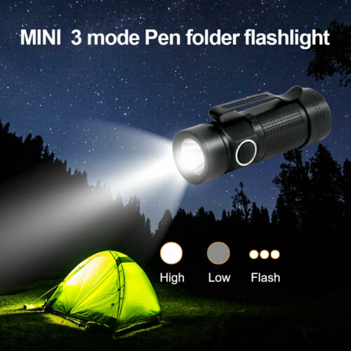 LED Tactical Flashlight Military Torch Small Super Bright Handheld Light Hiking