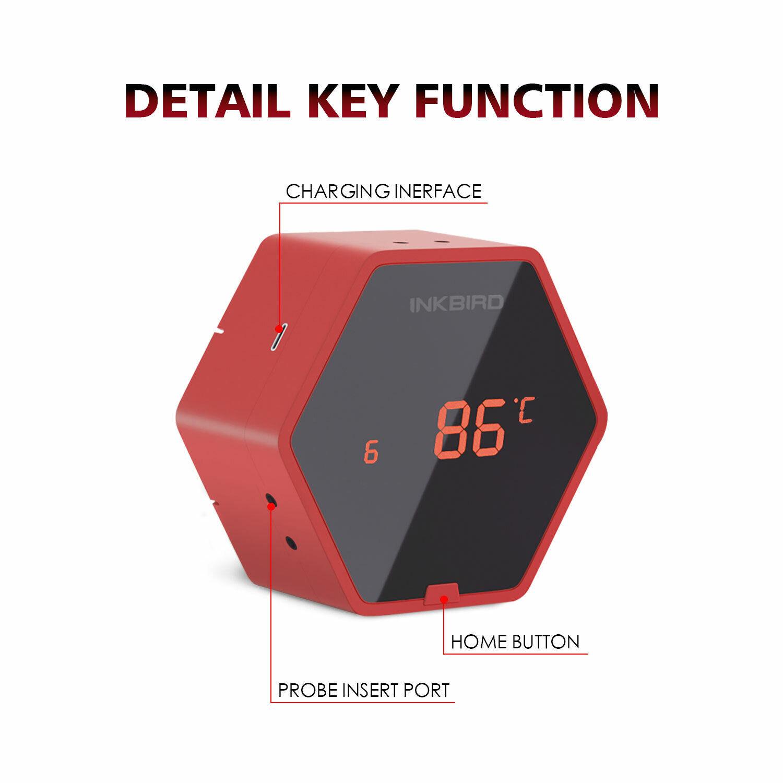 Inkbird Bluetooth Grill Thermometer Digital Food Probes 6XS Kitchen BBQ Cooking