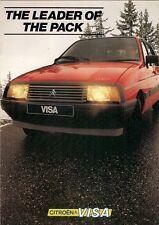 Citroen Visa 1983-84 UK Market Sales Brochure Special 11 E RE GT Convertible