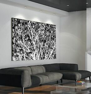 xxl leinwand bild 155x100x5 schwarz weiss magnolie ste baum natur gem lde ikea ebay. Black Bedroom Furniture Sets. Home Design Ideas