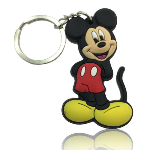 Disney Mickey Minnie Mouse PVC Keyring Key Chain Kids Xmas Gift Party Bag Favor