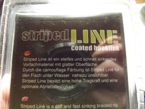 ProCarp StripedLine 10m beschichtetes Vorfach Karpfen Boilie Neu OVP Schnäppchen