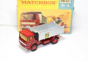 Matchbox-Kingsize-K-4-Leyland-Tipper-Truck-In-Its-Original-Box-Near-Mint-Model