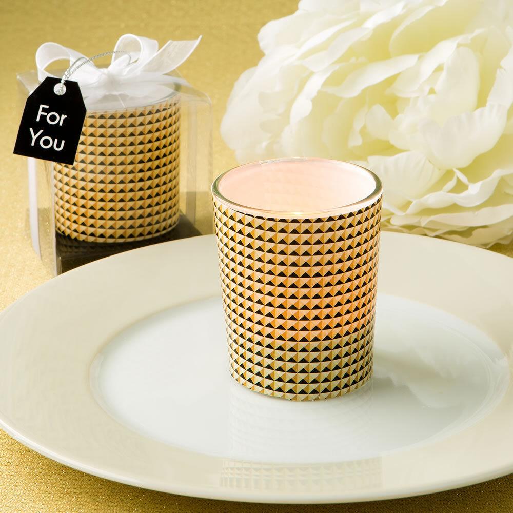82 GRAPHIC DESIGN GLASS CANDLE VOTIVE HOLDER or Favor Wedding Favors