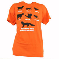 Spencers What Does The Fox Say Animals Song Novelty Orange Tshirt Tee