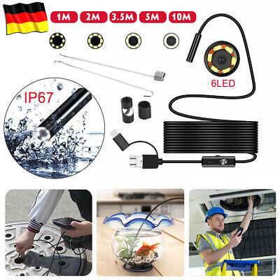 10M USB Endoskop Kanalkamera LED Wasserdicht Kanal Rohrkamera Inspektionskamera