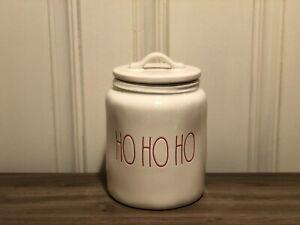 Rae-Dunn-Christmas-By-Magenta-HO-HO-HO-Farmhouse-Canister-Medium-Size