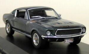 Greenlight-escala-1-43-Steve-McQueen-1968-Ford-Mustang-Gt-Fastback-no-restaurados