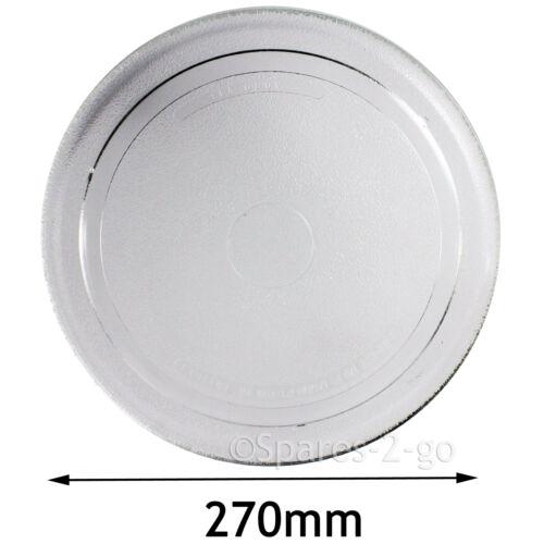 Universal micro-ondes plaque lisse plat plateau tournant en verre plat 270mm 27cm vapeur sacs