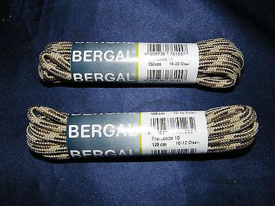 BERGAL BEIGE BRAUN BERGSENKEL 5mm DICK KORDEL 120-150cm WANDERSCHUH REIßFEST