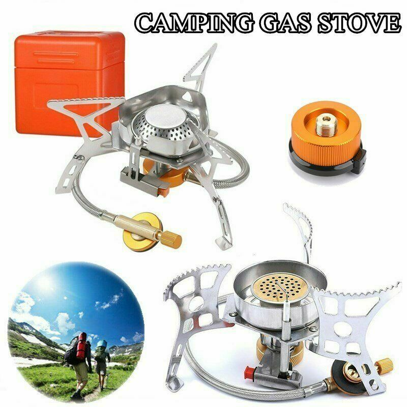 Outdoor Windproof Gas Stove Camping Steel Burner 4000btu Portable Cooking Tools For Sale Online Ebay